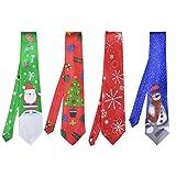 Fascigirl Weihnachten Krawatte Kreative Mode Lässig Neuheit Selbst Krawatte Urlaub Krawatte Party Krawatte (multicolor 5)