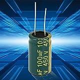 10pezzi Alluminio radiale Condensatore Elettrolitico Bassa ESR Verde con 100uf 450V 105 Celsius Vita 3000H Alta Corrente Ondulazione Bassa Impedenza