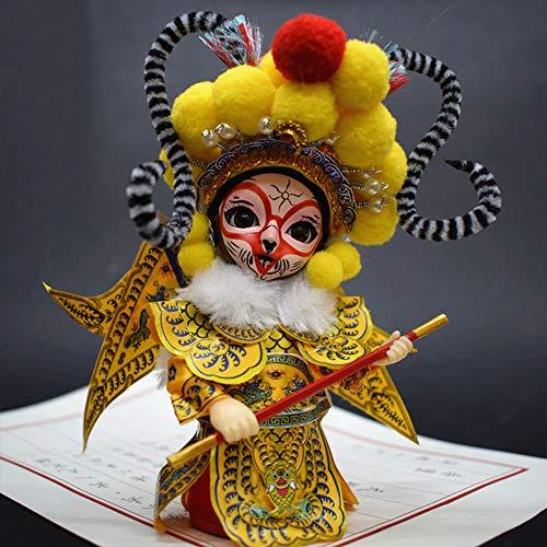 ドールメイキング 手芸用品 子供の人形 京劇の人形 中国の唐人形 人形の置物 Q版の絹人の贈り物 京劇の隈取りの人物がポーズをとる (孫悟空)