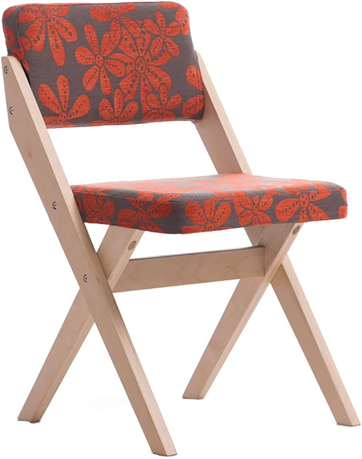 Solid Wood Dining Chair Fabric Chair Home Restaurant Conference Hotel Single Chair (color   C)
