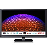 Sharp 1T-C24BC0KR1FB (24BC0K) 24 Inch HD Ready LED Smart TV with Freeview Play, 2 x HDMI, SCART, USB Media Player, Black
