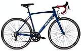 Benotto Bicicleta Ruta 590 R700 14v Aluminio Palancas Duales - Azul Metálico - 54