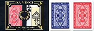 Da Vinci Ruote, Italian 100% Plastic Playing Cards, 2-Deck Bride Size Set by Modiano, Jumbo Index