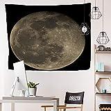 Brandless Tapiz de Cambio de Fase Lunar Colgante de Pared Constelaciones de Cielo Nocturno Negro Estrellado Decoración del hogar Telón de Fondo Estera de Picnic de Yoga (200x150cm)