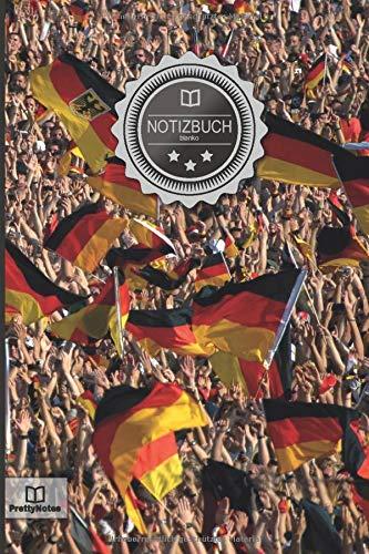 """Notizbuch: """"Deutschland Fans"""" • 100+ Seiten, liniert, Soft Cover, Inhaltsverzeichnis • Original PrettyNotes Blanko Notizbuch • Perfekt als Zeichenbuch, Malbuch, Hausaufgabenheft, Schulheft, Notizheft"""