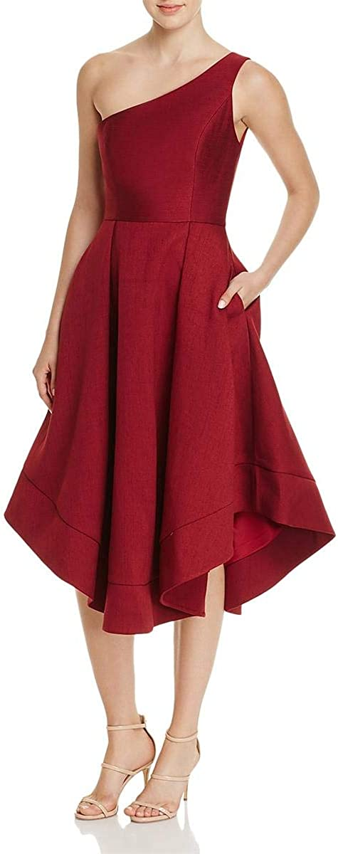 C/Meo Collective Women's Making Waves Strapless High Low Fit and Flare Party Dress