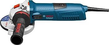 Bosch Professional GWS 13-125 CIE - Amoladora angular (1300 W, 2800 – 11500 rpm, Disco 125 mm, Antivibration, KickBack-Stop, en caja)
