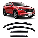 Voron Glass in-Channel Extra Durable Rain Guards for Mazda CX-5 2017-2021, Window Deflectors, Vent Window Visors, 4 Pieces - 220114