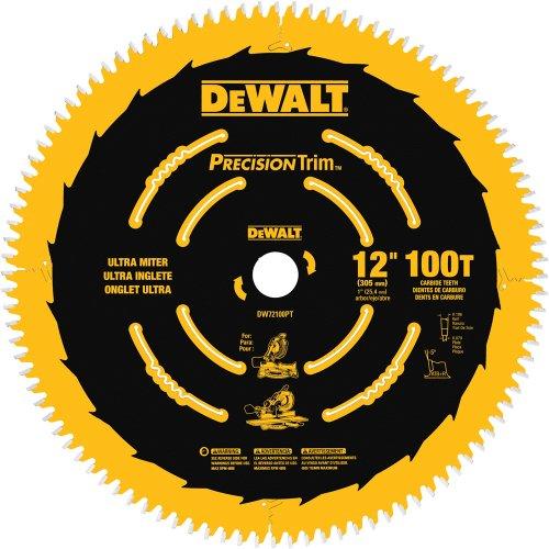 DEWALT 12-Inch Miter Saw Blade, Crosscutting, 100-Tooth (DW72100PT)