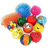 Stress Balls Puffer Stress Relief Toys Value Assortment Bulk 1 Dozen Stress Relax Toy Balls, Squeeze Ball Puffer...