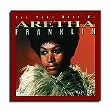 Aretha Franklin Poster auf Leinwand, Wandkunst, Poster für