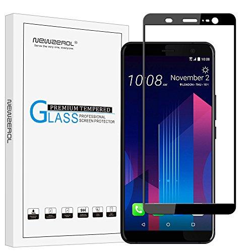 Newzerol para HTC U11 Plus Protector de pantalla completa adhesivo (6.0 inch) [cobertura completa] alta definición 9H templado protector de pantalla