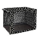 Cubierta para jaula de perro, de poliéster duradero, ajuste universal para jaula de perro de alambre – se adapta a la mayoría de cajas de perro de 42 pulgadas – solo cubierta-42