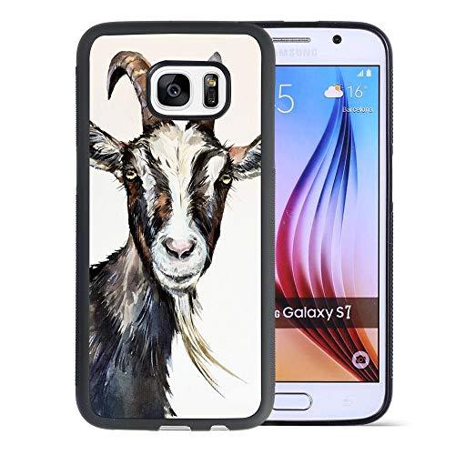 Goat Samsung Galaxy S7 Phone Case Black TPU Protective case Shockproof Non-Slip Soft Designed Goat case for Samsung Galaxy S7