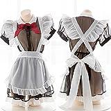 Wonderful Day Japón Cosplay Delantal erótico Mucama Disfraz Sexy Babydoll Vestido Mujeres Minifalda de Encaje Traje...