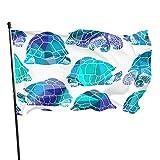 Florasun Giant Turtles On Land Bandera de jardín con impresión de banderas de 3 x 5 pies, colores vibrantes, calidad poliéster y ojales de latón