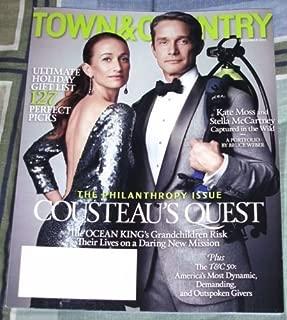 Town & Country Magazine (December, 2013) Céline & Fabien Cousteau Cover