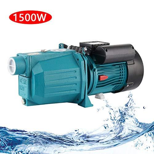 1500W Bombas Centrífugas Agua, 220V / 50Hz Bomba de Agua Doméstica, Bomba Centrífuga Eléctrico para Jardín, Bomba Hidráulica 3.6 m³ / h
