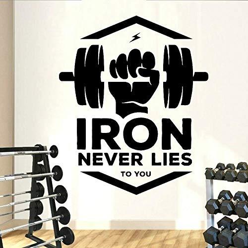 Pegatinas de vinilo para pared, Fitness, culturismo, motivación, entrenamiento, decoración moderna para el hogar, gimnasio