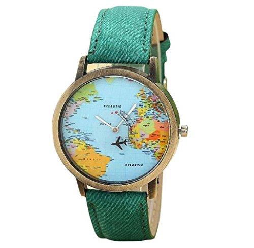 ✽Internet✽ Viaje Global Fashion En avión Mapa Vestido de Las Mujeres del...