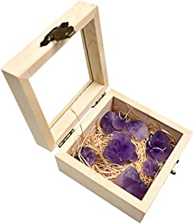 Balacoo 100g Irregular Amethyst Rock Stone Healing Crystal Chakra Gemstone for Jewelry Making Ore Specimen