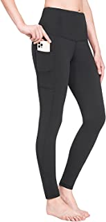 BALEAF Women's Fleece Lined Leggings Water Resistant High Waisted Warm Winter Pants Hiking Running Tights with Pockets