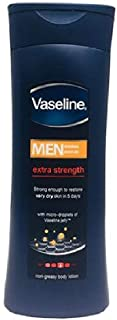 Vaseline Men Extra Strength Body Non-greasy Body Lotion with micro-droplets of Vaseline jelly 400ml