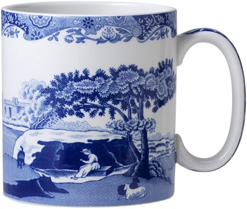 Spode Blue Italian Mug Set Of 4