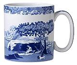 Spode Spode - Juego de 4 tazas italianas, color azul