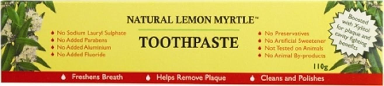 実用的見物人ストライク【LEMON MYRTLE FRAGRANCES】Toothpaste レモンマートルフレグランス トゥースペースト 110g