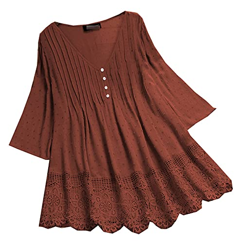 Primavera De Las Mujeres Nuevas Camisetas De Las Mujeres Camisas De Color SóLido Camiseta Holgada Hueca Mujeres