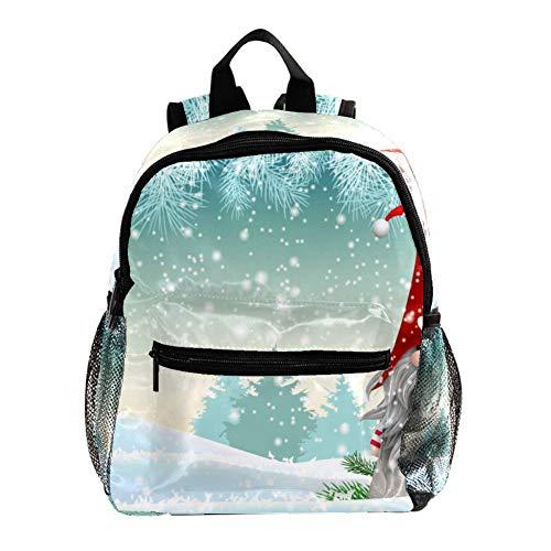 Mochila para Niñas Niños Bolsa de Escuela Niños Librero Mujeres Casual Daypack Rojo Girasoles Santa Blancanieves 25.4x10x30 CM/10x4x12 in