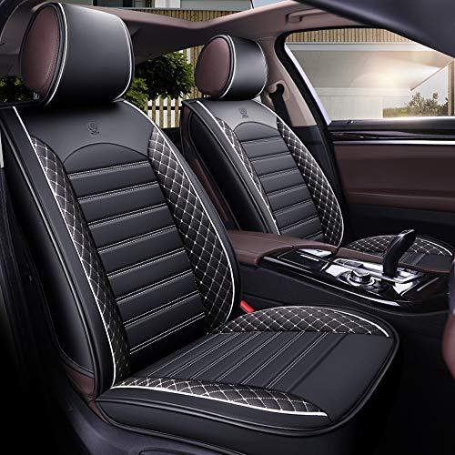 Autositzbezug-Set für 5-Sitzer Automotive Pick Up SUV Truck Kunstleder Sitzschutz Autoinnenausstattung 5 Farben (Weiß)
