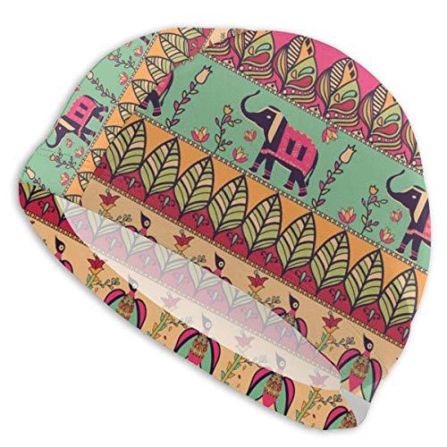 Bonnet de bain Wu - Style bohème - Confortable - Respirant - Séchage rapide - Pour cheveux longs et bouclés - Unisexe - Adulte