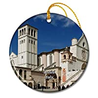 イタリアアッシジフランシス教会クリスマスオーナメントセラミックシート旅行お土産ギフト