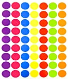 Tag-A-Room 1 Inch Round Color Coding Circle Dot Sticker Labels, 7 Bright Colors, 8 1/2' x 11' Sheet (1008 Pack)