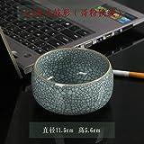 Portacenere Posacenere Posacenere Celadon retrò Creativo Soggiorno in casa Decorazione ceramica cinese a tamburo A