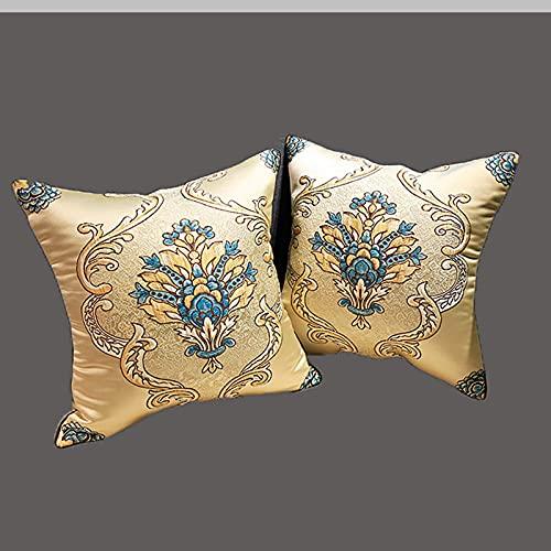 JONJUMP 2 fundas de cojín decorativas para sofá, fundas de almohada de lujo para decoración del hogar, fundas de almohada de 45 x 45 cm