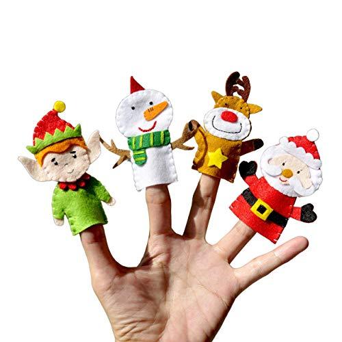 Merry Christmas Finger Puppets Set 4 pcs