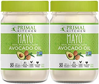 Primal Kitchen - Avocado Oil Mayo, Dairy Free, Whole30 and Paleo Approved (12 oz) - Two Pack