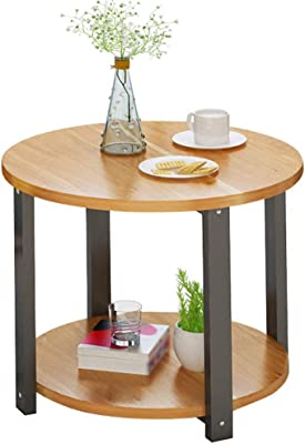 NYDZ Small Round Table Coffee Table, Simple Sofa Against The Wall Semi-Circular Table Bedroom Bedside Table Children Study Table Side Table (Size : 60cm)