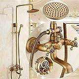 Cxmm Grifos de Ducha, Ducha Antigua, Set de Ducha, baño de Cobre, grifos de Ducha fría y Caliente, Ducha
