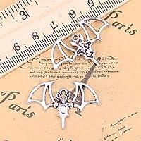 チャーム 12個の22x32mmチベットの宝石の形をした古代のペンダントブレスレットとネックレスのために自分自身を作るためのヴィンテージシルバー