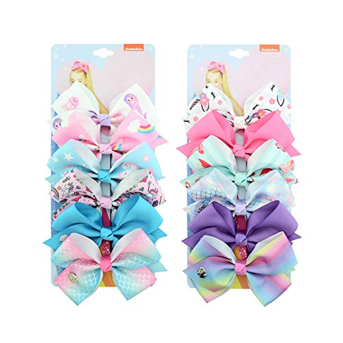 Gobesty Kinder Haarschleifen, 12 Stück Haarbögen Krokodilklemmen Haarklammern mit Schleifen für Mädchen Kleinkind Kinder Geburtstagsgeschenk Kindertagsgeschenk