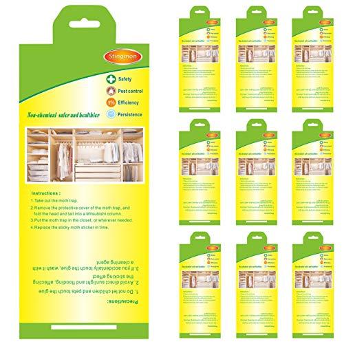 Stingmon 10pcs Ropa de protección contra Trampa para polill