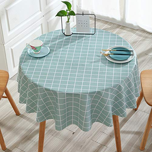 WHDJ Runde und rechteckige Tischdecken, PVC-Karierte Tischdecke Wasserdicht Ölfeste Anti-Verbrühungs-Reinigung Wischen Sie die Tischdecke ab