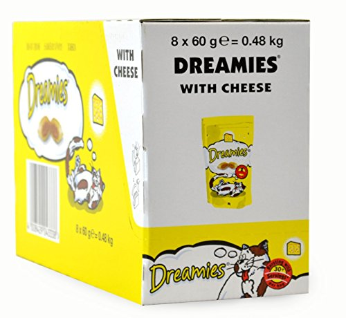 8 x 60g Dreamies Cat Treats With Cheese - Bulk Pack
