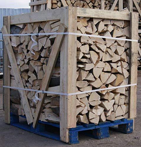 H-O Brennholz 100% Buche für Kaminofen, Ofen, Lagerfeuer, Feuerschalen, Opferschalen buchenholz kaminholz feuerholz Holz (1 Palette 25 cm Holzscheide)