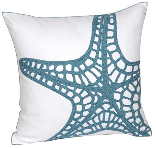 Coastal themed decorative pillow