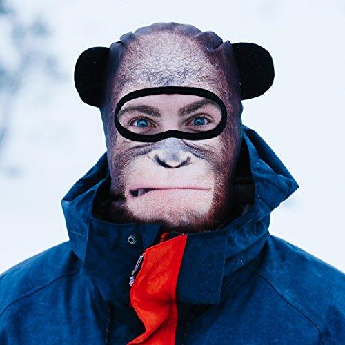 Beardo ® Original Sturmhaube Sturmhauben HD (verschiedene Designs)   Skimaske, Kälteschutz, Gesichtsschutz, Sturmmaske (Orang-Utan)